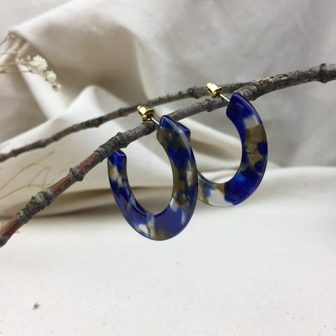 Blue Moon Earrings - Twist Earring