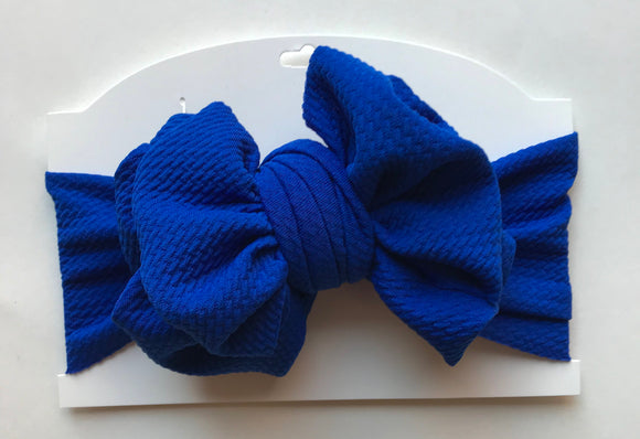 ROYAL BLUE MESSY WRAP