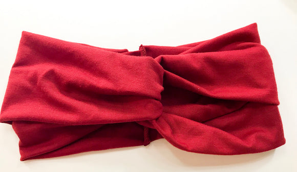Red women's head wrap