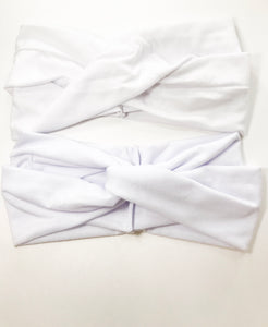 Solid white/off white women's head wrap