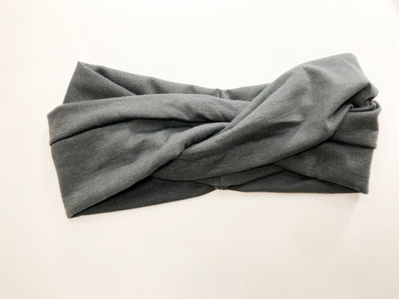 Grey women's head wrap