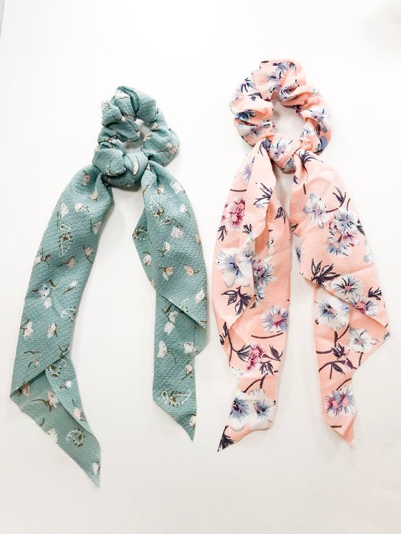 Lovely scarf scrunchies