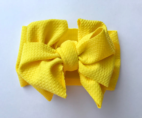 Bright Yellow Messy Wrap