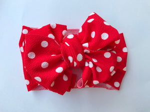 RED & WHITE POLKADOT