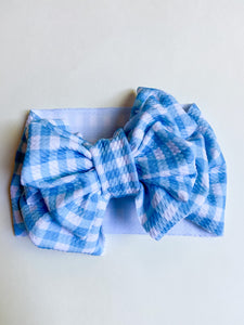 Blue & white plaid