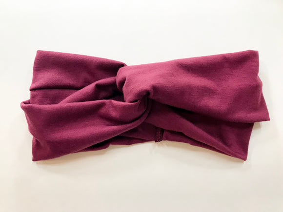 purple women's head wrap