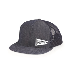 BRKWY Denim Mesh 6-Panel Trucker Hat