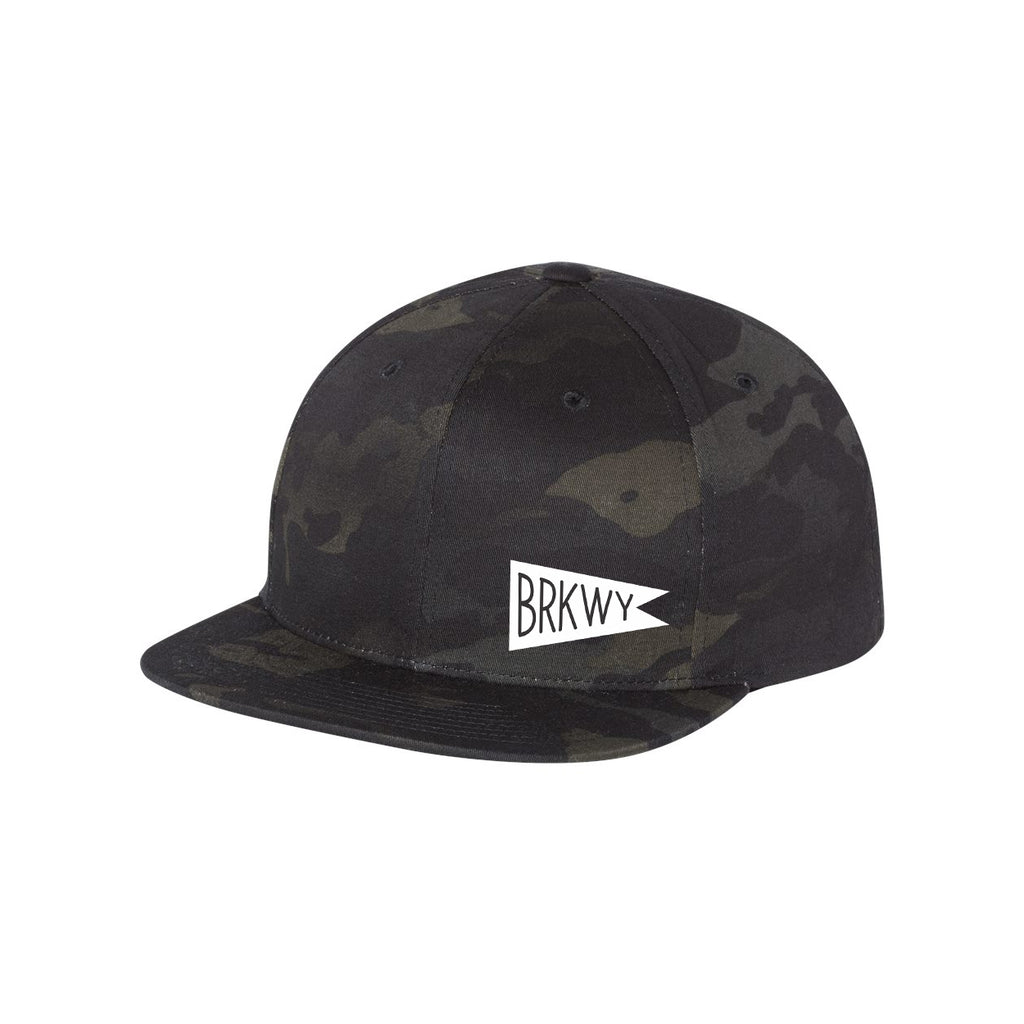 BRKWY Black Camo 6-Panel Trucker Hat