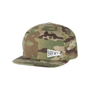 BRKWY Camo Six-Panel Trucker Hat