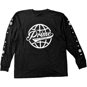 Prime Music Festival Globe Long Sleeve Tee