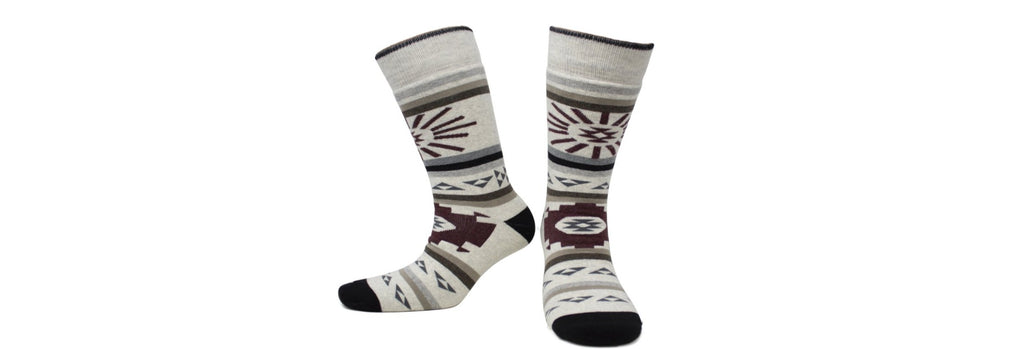 "Canadian Socks ""First Nations"" in Eco-friendly Certified Cotton (3 pairs)"