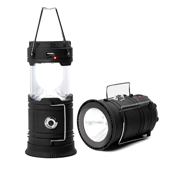 2-in-1 Solar Powered Collapsible LED Lantern and Flashlight