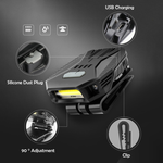 2-in-1 LED Hat Clip Light and Headlamp With Motion Sensor, USB Rechargeable