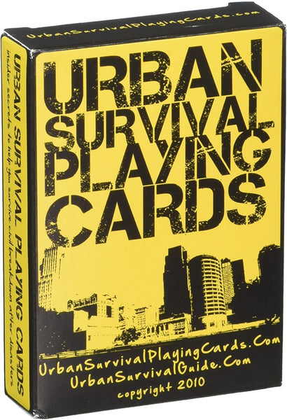 Urban Survival Tips Playing Cards