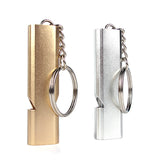 Extra loud Emergency Aluminum Alloy Dual Whistle