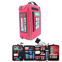 2, 3, or 4 Section First Aid Kit, Color Coded