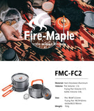 3-Piece Non-Stick Fire Maple Anodized Aluminum Cookware Set