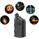Telescoping, Waterproof & Windproof, USB Rechargeable Dual Arc Plasma Lighter