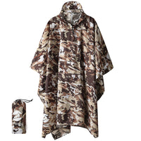 3-in-1 Hooded, Waterproof Rain Poncho, Tarp or Shelter