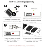 10W Foldable Solar Panels with a USB Charge Port