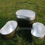 German Military Issue 3-in-1 Aluminum Camping Cookware Set
