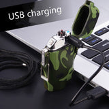 2-in-1 USB Rechargeable Dual Arc Plasma Lighter & LED flashlight