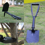 Multi-Purpose Military Tactical Folding Shovel / Pick with Case