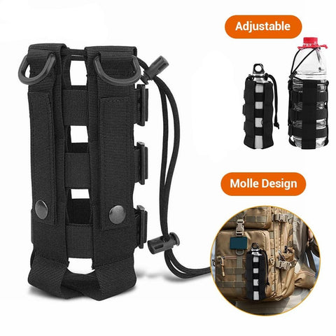 Tactical Water Bottle Pouch, MOLLE compatible