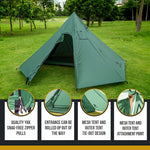 OneTigris IRON WALL Chimney Tent 7-Sided 2-Chamber Single Shelter & Inner Mesh Tent