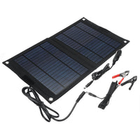25W Foldable Solar Panels with dual USB Charge Port