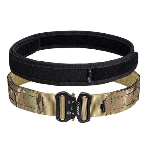 "2"" Tactical Rigger's Belt w/ Quick Release Metal Buckle MOLLE"
