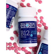 Load image into Gallery viewer, Max Strength Eligen Vitamin B12 1000 mcg | 30 Tablets