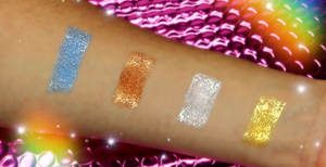 Out Cosmetics Metallic Liquid Eyeshadow Swatches