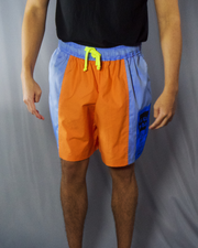 orange and blue short