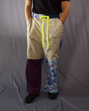 burberry and blue floral print tailored trousers