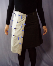 beige and brown cotton skirt - ARTO