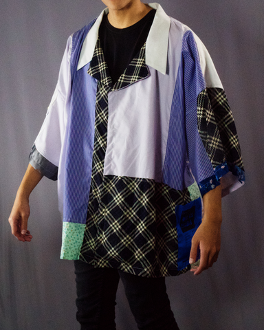 stripe print and blue shades shirt - ARTO
