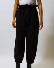 organic cotton high waisted trousers