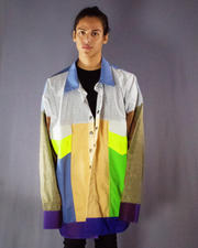 white and neon colors jacket - ARTO