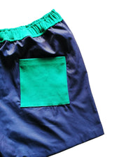 mulberry and blue short