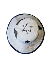 white denim logo hat