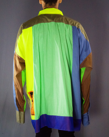 neon yellow and purple jacket - ARTO