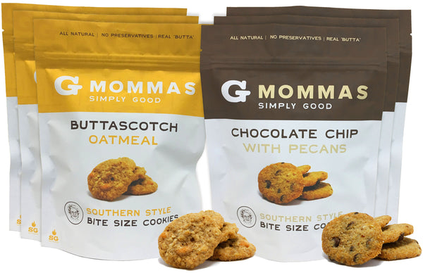Chocolate Chip with Pecans and Butterscotch Oatmeal Cookies - Variety Pack 6