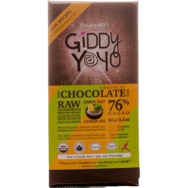 Dark Chocolate Lime Salt Bar Organic Chocolate Bar Giddy Yoyo