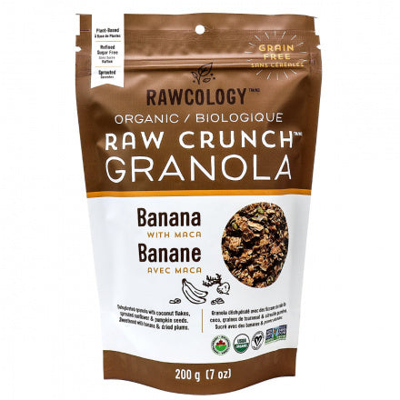 Banana with Maca Raw Crunch Granola - Rawcology