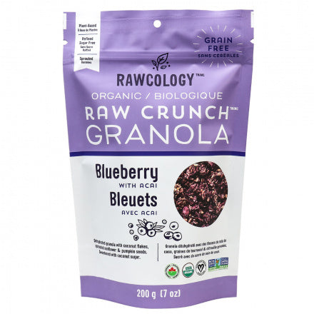 Blueberry with Acai Raw Crunch Granola - Rawcology