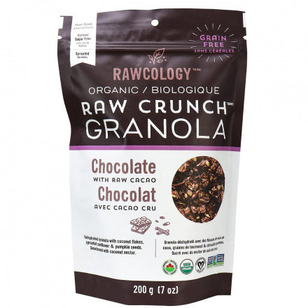 Chocolate Raw Crunch Granola - Rawcology