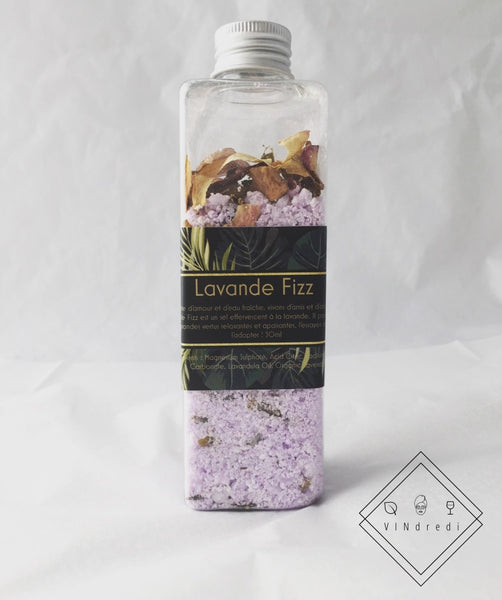 💜 Lavender Bath Salt Lavande Fizz +/- 320G💜 - VINdredi Beauté