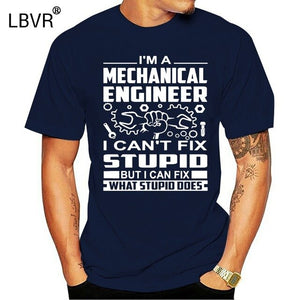 Mechanical Engineer T Shirt Gifts Mechanical Engineering Comfortable MenO Collar T Shirt Cool