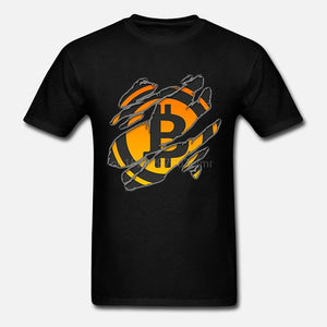 T Shirts Bitcoin In Cryptography We Trust MenO Neck Moon Short Sleeve Cryptocurrency T-Shirt Men Funky Tees Cotton Clothes